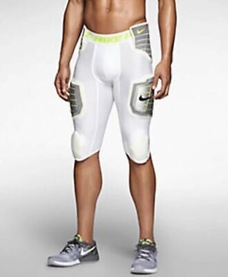 3a555245c6bc4 Nike Pro Combat Hyperstrong 3.0 Hard Plate Pants Football White Lime 584387  101