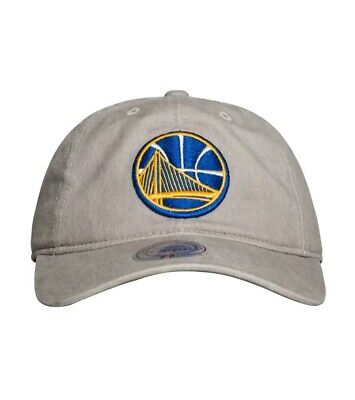 outlet store d68c1 20f64 Golden State Warriors NBA Mitchell Ness Blast Wash Tan Khaki Slouch Hat Cap  Mens