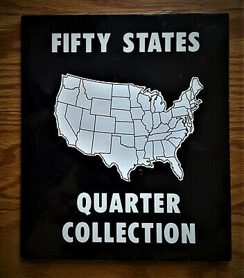 1999-2018 U.S. State Quarters Complete Collectible Set Of 50 Coins In Folder