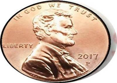 """RARE 2017 """"P"""" Philadelphia Mint LINCOLN  U.S. PENNY CENT UNCIRCULATED COIN with"""