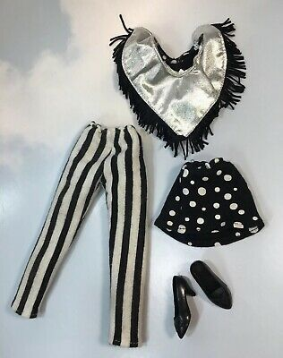 Jem and the Holograms JETTA doll Clothes Black & White vintage Hasbro