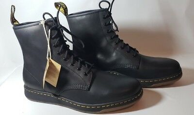 a113e751f571 Dr. Martens Newton 8-Eye Fashion Boots Men s 13 M Black Temperley Leather  AW004
