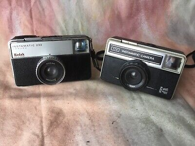 Kodak Instamatic 233 and kodak instamatic 77X cameras