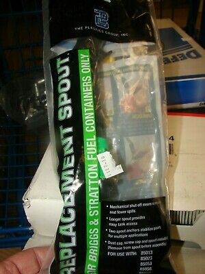 Briggs /& Stratton 85040 Smart-Fill Replacement Spout Green//Black Pack of 1