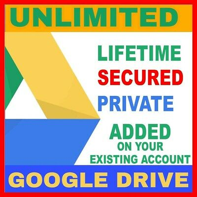 Google Drive Unlimited Space / One time payment / Forever / 100% Guarantee