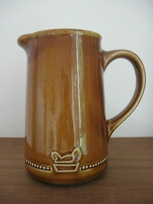 vintage rare WADE Ireland BALLYFREE FARMS brown JUG Hen in basket decoration