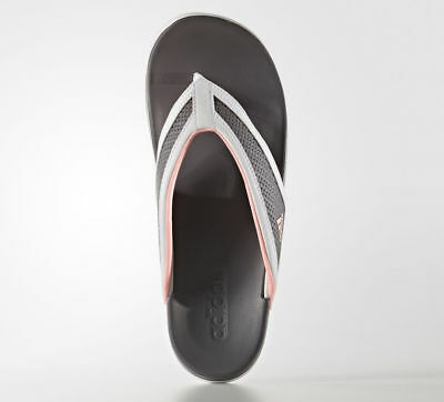 c524238441d53 NEW Womens White Gray Pink Adidas Adilette CF Flip Flops Thongs Sandals  Size 9