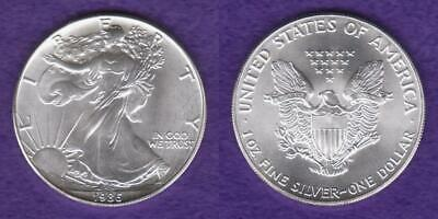1986 AMERICAN EAGLE 1oz. SILVER DOLLAR BU FRESH FROM ORIGINAL ROLL  --  SCFK