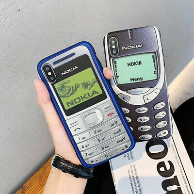 Case For iPhone X XS Max XR 8 7 6s 6 Plus Retro Nokia Pattern TPU Soft Cover