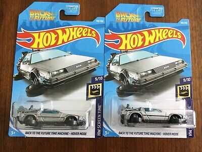 Hot Wheels Back to the Future Time Machine DeLorean Hover Series Lot-2 VHTF