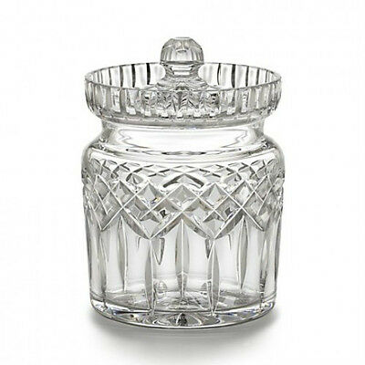 Waterford Crystal Lismore Traditional Biscuit Barrel New Hand Signed V Rellis