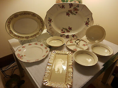 ANTIQUE SET OF NINE Ceramic mixed Pieces. From circa 1930's onwards. Pick UP Onl