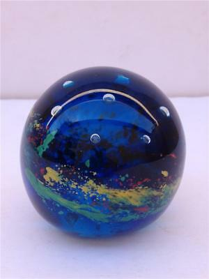 Vintage Multi-colored Art Glass Paperweight