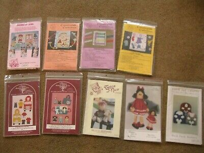 Lot of 12 sewing patterns children's activity Quiet Book pages, Dolls, toy totes