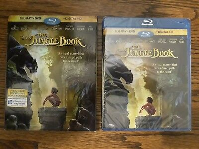 Disney The Jungle Book Blu-ray + DVD + Digital HD Movie Film BRAND NEW