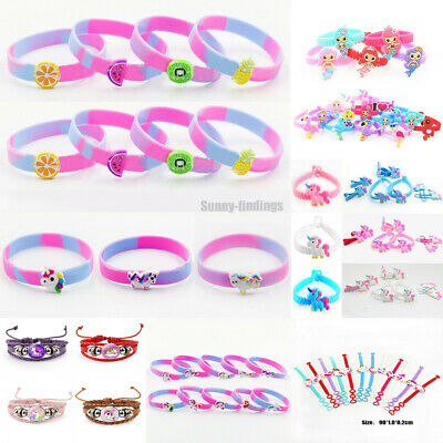 Cartoon Unicorn Flamingo Mermaid Fruits Bracelet Bangle Wristband Kids Gift HOT