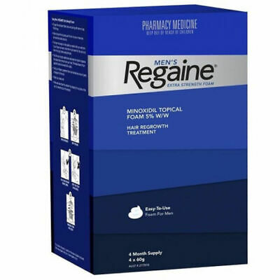 Regaine Mens Extra Strength Foam 4 Months Supply 4 X 60G Hair Loss Minoxidil