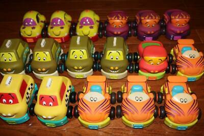 Huge Lot 17 Just B You Parents Battat Pullback Toy Vehicles Soft Shell Cars Taxi
