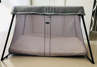 Baby Bjorn Travel Cot - Silver Mesh