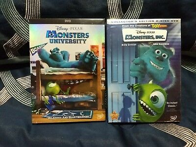 Monsters Inc & Monsters University DVD 2 Pak Combo Disney BRAND NEW