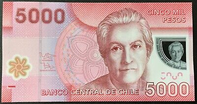 Banknote - 2013 Chile Polymer Banknotes 5000 Pesos, P163d, UNC