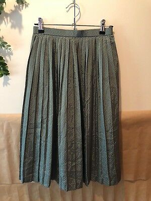Vintage pleated green/gold skirt-size 6-8