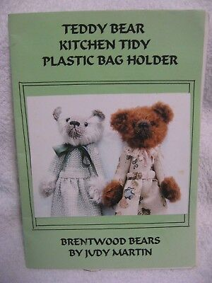 Teddy Bear Kitchen Tidy Hanging Plastic Bag Holder Brentwood Bears Craft Pattern