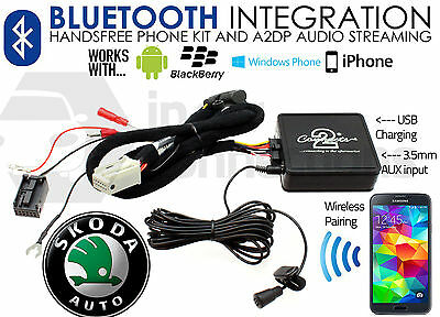 CTASKBT003 Skoda Yeti Bluetooth music streaming adapter handsfree AUX iPhone car