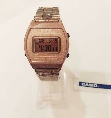 Rose Gold CASIO Retro Classic Unisex Digital Steel Bracelet Watch-A168WA-1YES