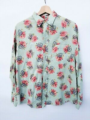 check out 9499c 72ef8 CAMICIA RALPH LAUREN Country Vintage Uomo Donna Rose Shirt M 100% cotone