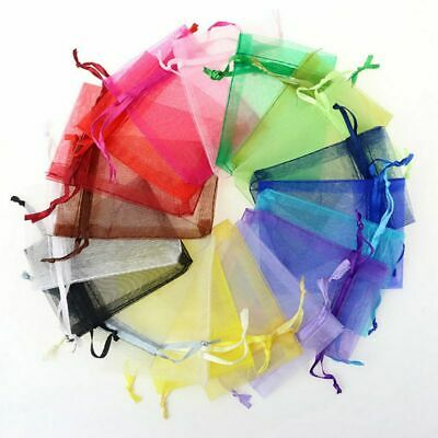 AU 100pcs Packing Pouch Wedding Party Gift Bag Sheer Jewelry Candy Color Pouch