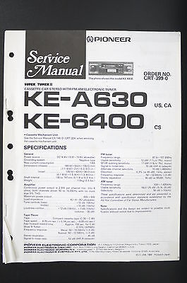 Pleasing Pioneer Ke A630 Ke 6400 Car Cassette Tuner Service Manual Wiring Wiring Digital Resources Aeocykbiperorg