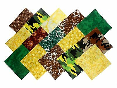 """10 10X10""""  Layer Cake Squares/camo Forest Galore-10 Different -1 Of Each"""