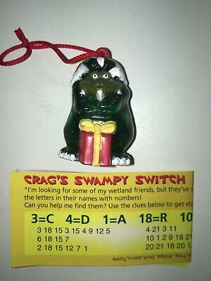Yowie - Man - CHRISTMAS CLEAR CRAG - 1995 - Christmas Ornament with paper