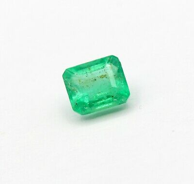1.14 Ct Natural Emerald Unheated 6.29 x 5.47 mm Certified Gemstone
