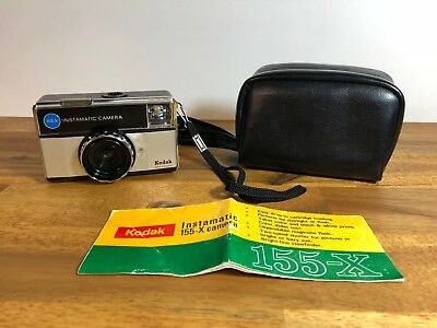 Vintage Kodak 155x Instamatic Camera + Carry Pouch and Instructions