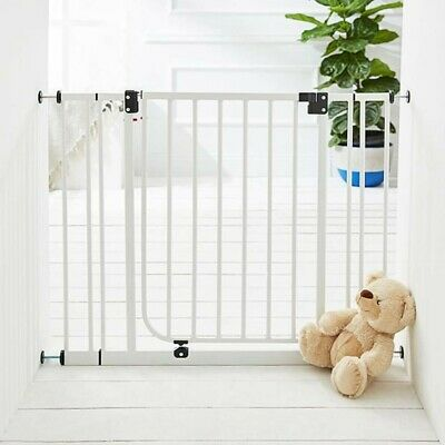 Deluxe Safety Gate Baby Child Stair Metal Plastic Extendable Fence Target