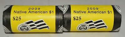 2009-P & D *Unopened* BU Roll  of 25 Sacagawea Native American $1 Dollar Coins