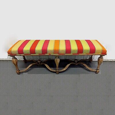 """Italian """"Pavia"""" Upholstered Bench by Decorative Crafts Inc."""