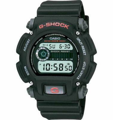 New CASIO G SHOCK DW9052 Men's Digital Illuminator Sport Watch, Black / Red