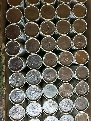 Half Dollar Coin Roll (x1) POSSIBLE 40-90% SILVER KENNEDY BANK SEALED LOT Loomis