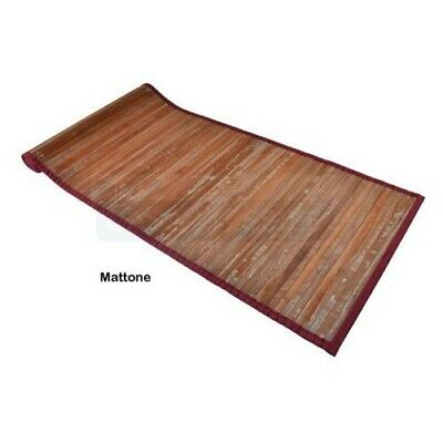Bambú washed alfombra carril multiuso