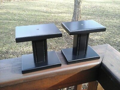 (2) Small Speaker Stands Black ,,,