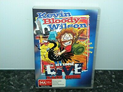 Kevin Bloody Wilson Let Loose Live Back Home R4 Dvd Vgc