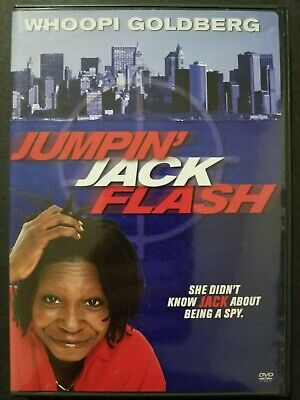 Jumpin' Jack Flash (DVD, 2004) Whoopi Goldberg 1986 Region 1 OOP