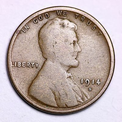 1914-S Lincoln Wheat Cent Penny LOWEST PRICES ON THE BAY!  FREE SHIPPING!