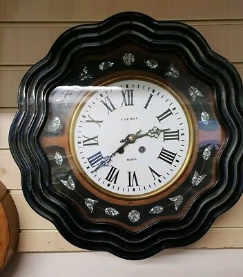 Vintage French Vineyard 8 Day Circular Wall Clock with Strike