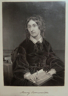 19th C PRINT of MARY SOMERVILLE - Scotish Science Writer & Polymath