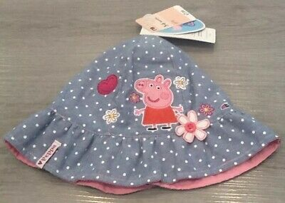 3840ae37 Mothercare Baby Girls Peppa Pig Bucket Sun Hat Age 3-6 Months New With Tags