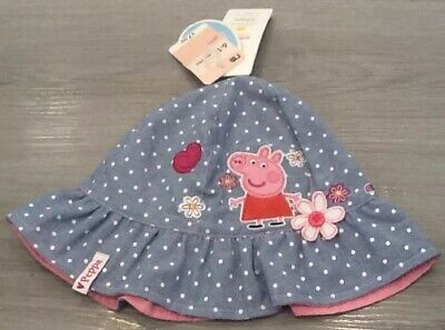 744c5c84 Mothercare Baby Girls Peppa Pig Bucket Sun Hat Age 6-12 Months New With Tags